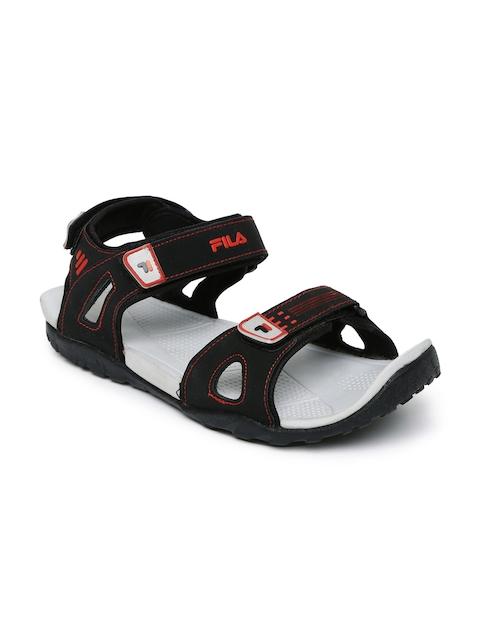 FILA Men Black Falkner Sports Sandals  available at myntra for Rs.849