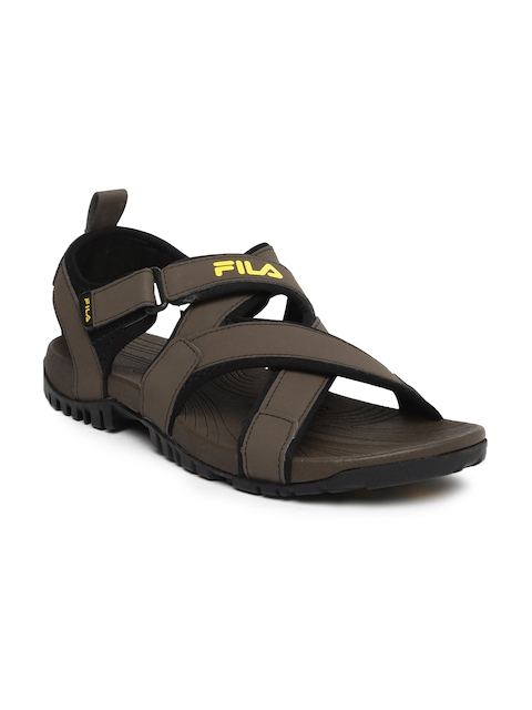 FILA Men Brown Pacific Sports Sandals  available at myntra for Rs.839