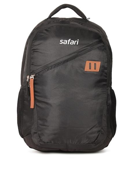 Safari Unisex Black Solid Backpack