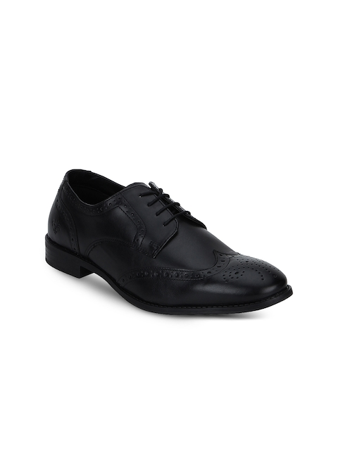 Red Tape Men Black Brogues