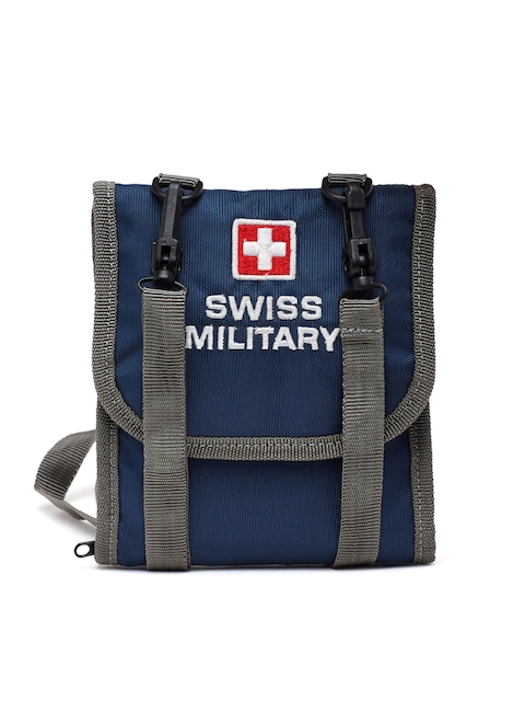 Swiss Military Unisex Blue & Grey Travel Pouch