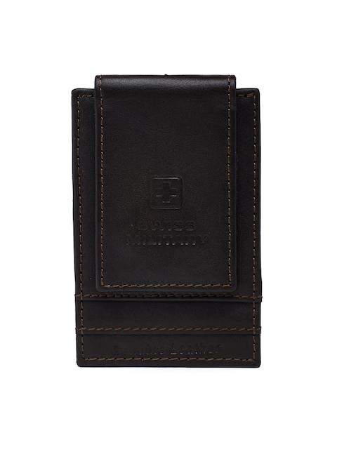 SWISS MILITARY Men Brown Solid Card Holder