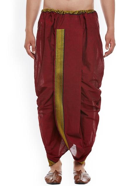 SOJANYA Maroon Dhoti Pants