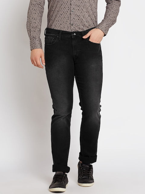 Pepe Jeans Men Black Mid-Rise Clean Look Stretchable Jeans