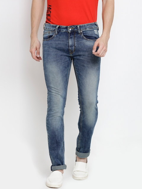 Pepe Jeans Men Blue Mid-Rise Clean Look Stretchable Jeans
