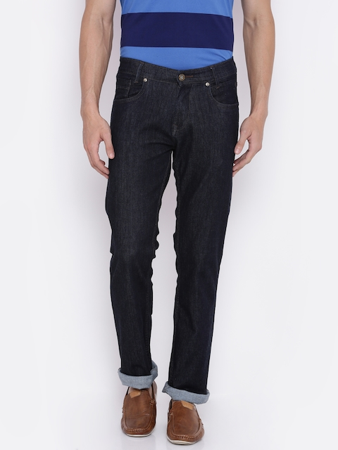 Mufti Men Navy Classic Fit Mid-Rise Clean Look Stretchable Jeans