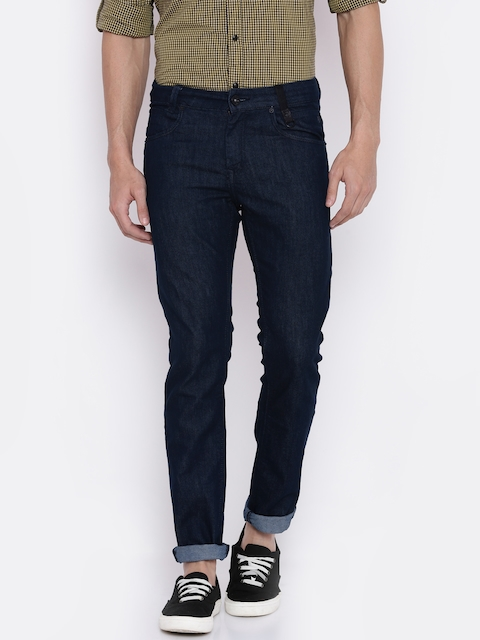 Mufti Men Blue Super Slim Fit Mid-Rise Clean Look Stretchable Jeans