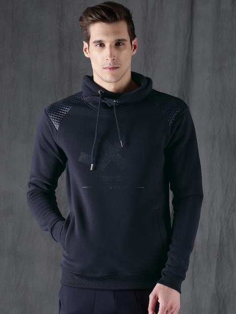 WROGN Men Navy Blue Printed Sweatshirt