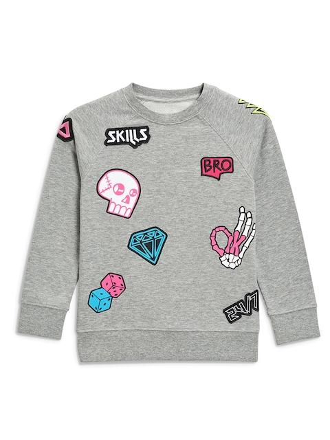 next Boys Grey Printed Sweatshirt