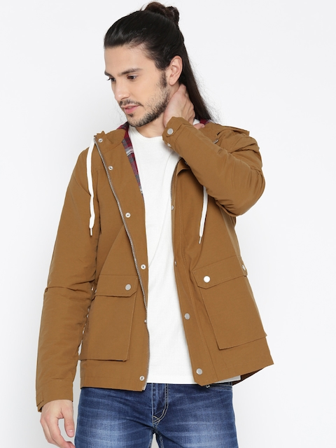 FOREVER 21 Men Mustard Brown Solid Tailored Jacket