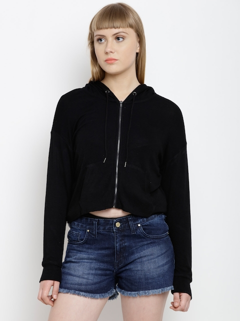 FOREVER 21 Women Black Solid Tailored Jacket