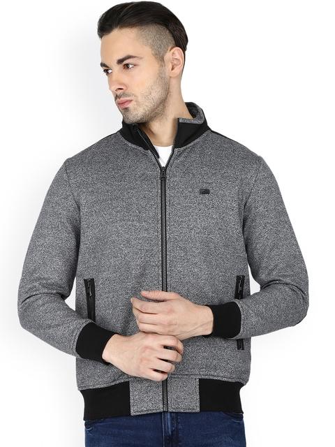 t-base Men Grey Solid Sweatshirt
