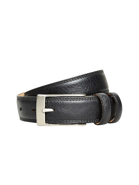 next Men Black Solid Belt