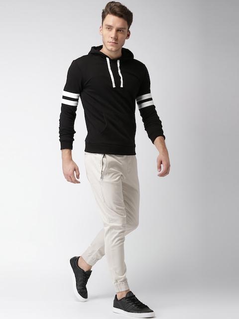 FOREVER 21 Men Black Solid Sweatshirt
