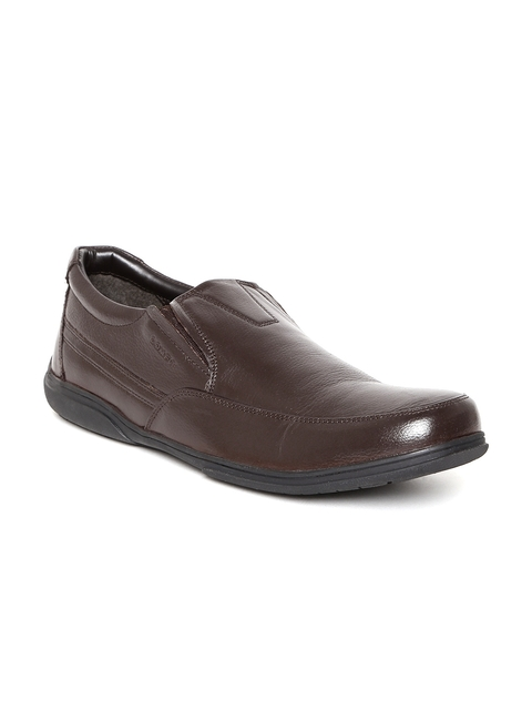 Bata Men Brown Leather Semiformal Slip-Ons