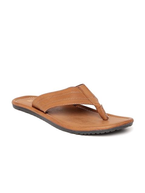 Footin Men Tan Brown Flip-FLops
