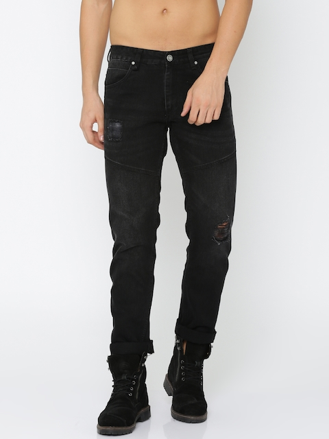 Roadster Men Black Slim Fit Mid-Rise Mildly Distressed Jeans