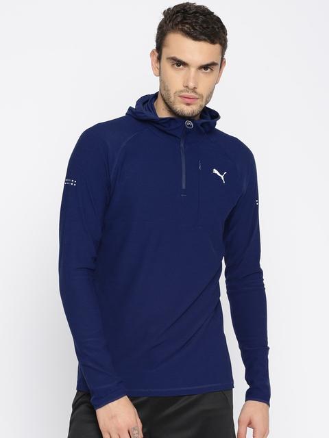PUMA Blue Run Hooded Sweatshirt