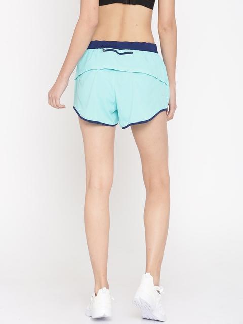 Puma Women Blue Solid Sports Shorts