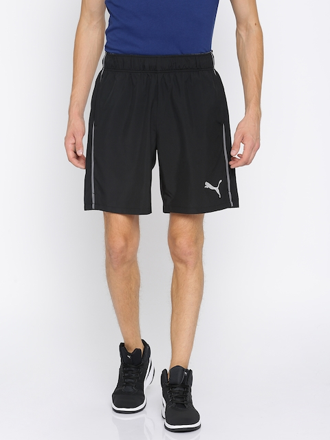 Puma Men Black Solid Loose Fit Essential Woven Sports Shorts
