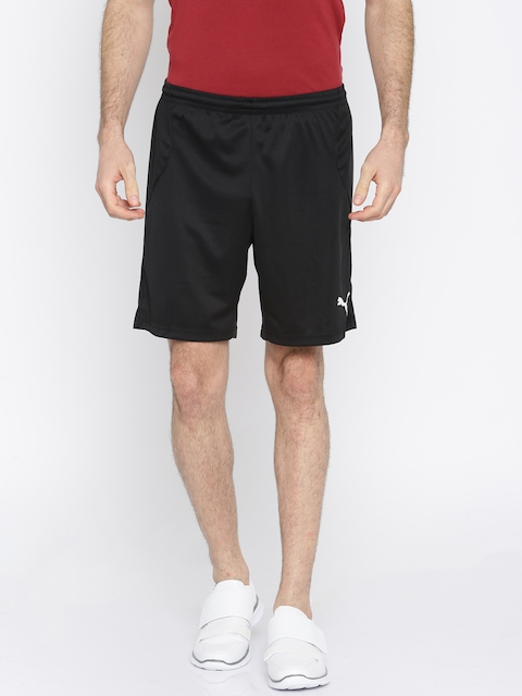 Puma Men Black Solid Loose Fit Sports Shorts