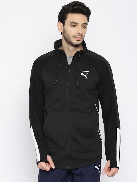 Puma Men Black Solid Evo T7 Sporty Jacket
