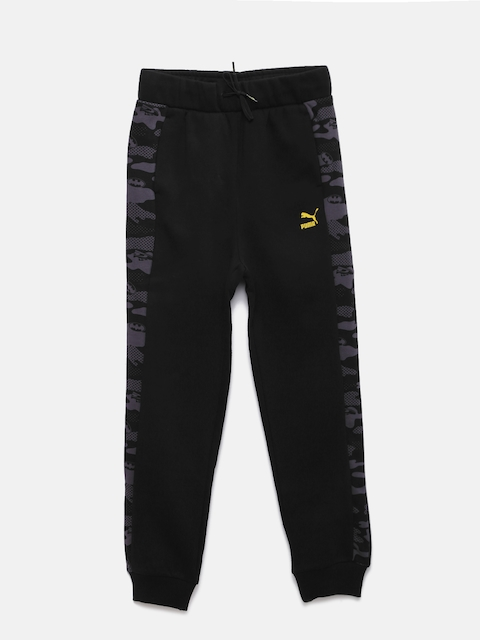 Puma Boys Black Justice League Printed Lounge Pants
