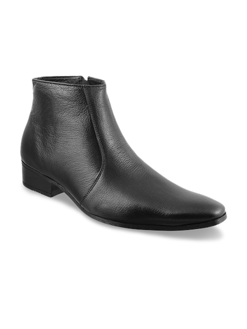 Metro Men Black Leather Boots