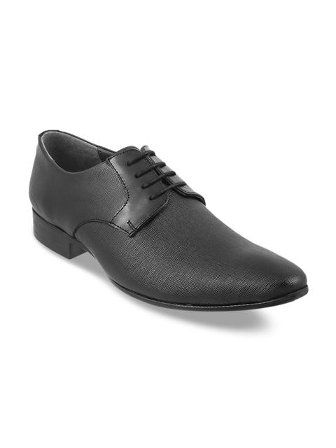 Metro Men Black Formal Leather Oxfords
