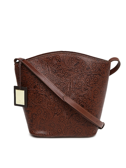 Hidesign Brown Textured Sling Bag  available at myntra for Rs.4525