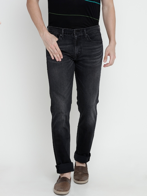Levis Men Black Slim Fit Low-Rise Clean Look Stretchable Jeans