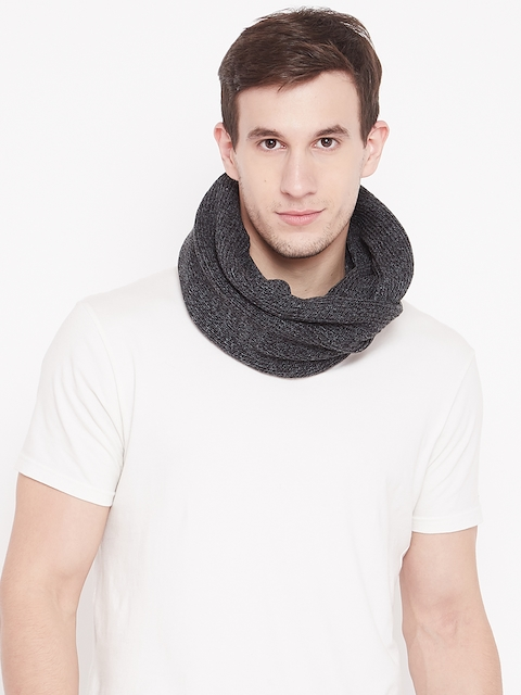 Adidas Men Charcoal Grey 3S Snood