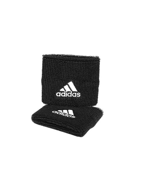Adidas Unisex Set of 2 Black Tennis Wristbands