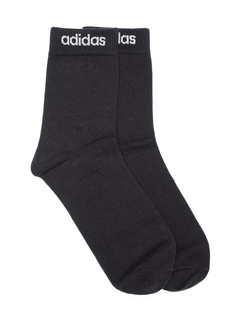 Adidas NEO Men Black Q3 B 1PP C Above Ankle-Length Socks