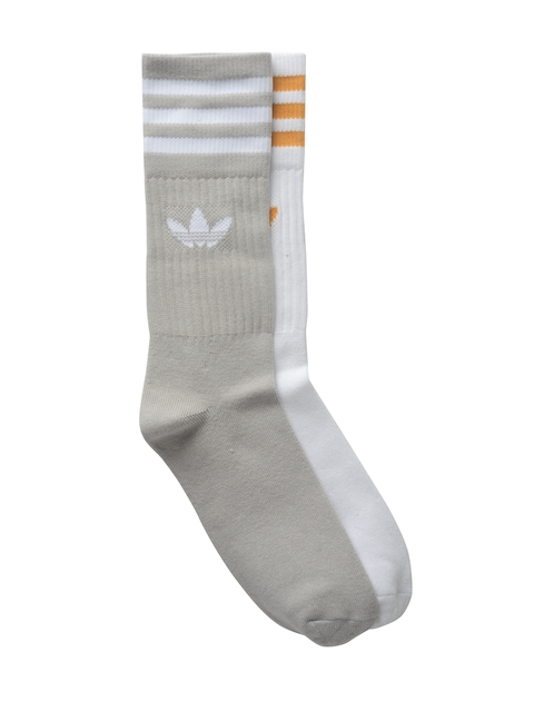 Adidas Originals Unisex Pack of 2 Solid Crew Above Ankle-Length Socks
