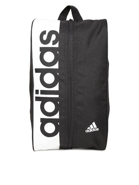 Adidas Unisex Black & White LIN PER Brand Print Shoe Bag