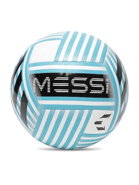 ADIDAS Men White & Blue Messi Glider Printed Football