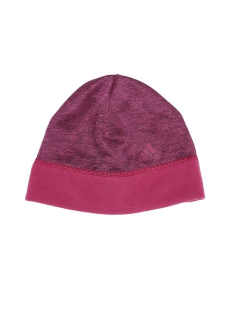 Adidas Unisex Burgundy & Pink CLMWM FLC Beanie