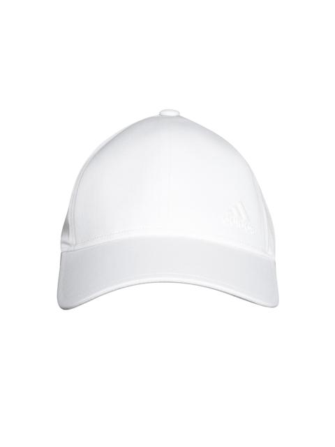 Adidas Unisex White Bonded Solid Baseball Cap