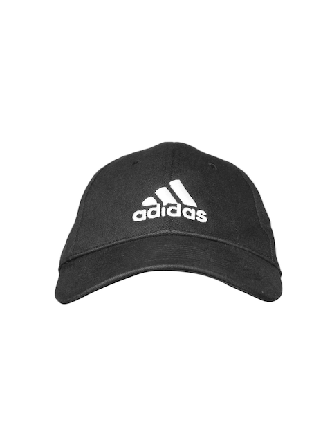 ADIDAS Unisex Black 6 Panel Solid Cap