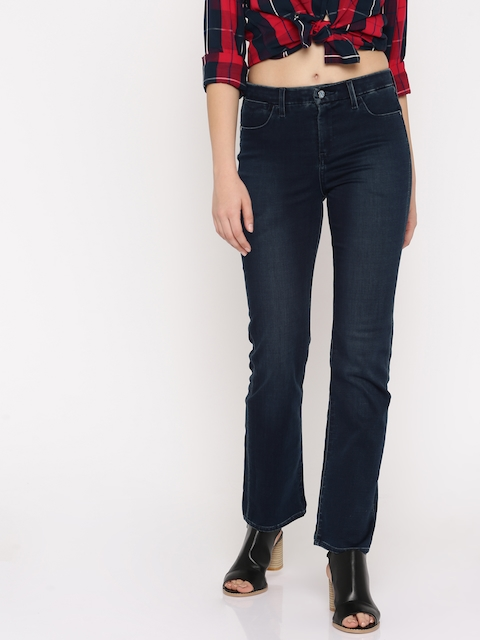 Levis Women Blue Slim Fit Mid-Rise Clean Look Stretchable Jeans