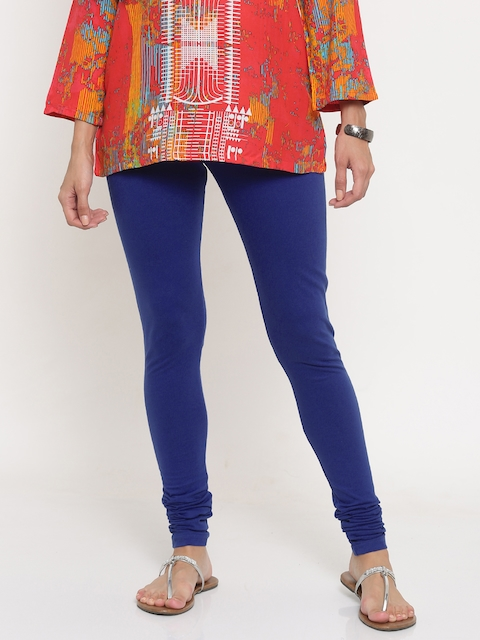 Global Desi Blue Churidar Leggings