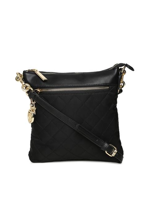 Tommy Hilfiger Black Solid Sling Bag
