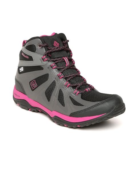 Columbia Women Grey & Black Mid-Top Peakfreak XCRSN II SCEL OUTDRY Outdoor Shoes