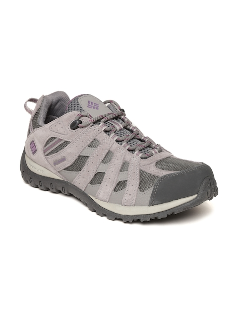 3d7da76799cc1c 30%off Columbia Women Grey Waterproof Suede Trekking Shoes