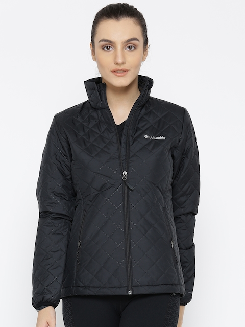 Columbia Women Black Dualistic Solid Insulator Quilted Jacket