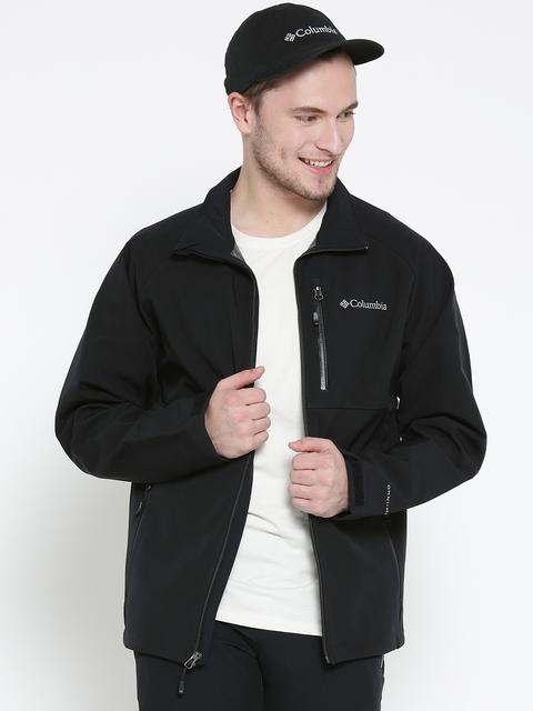 Columbia Men Black Heat Mode II Softshell Water-Resistant Sporty Jacket