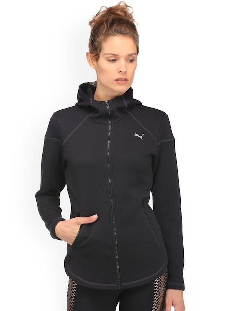 Puma Women Black Solid Nocturnal Winter Jacket
