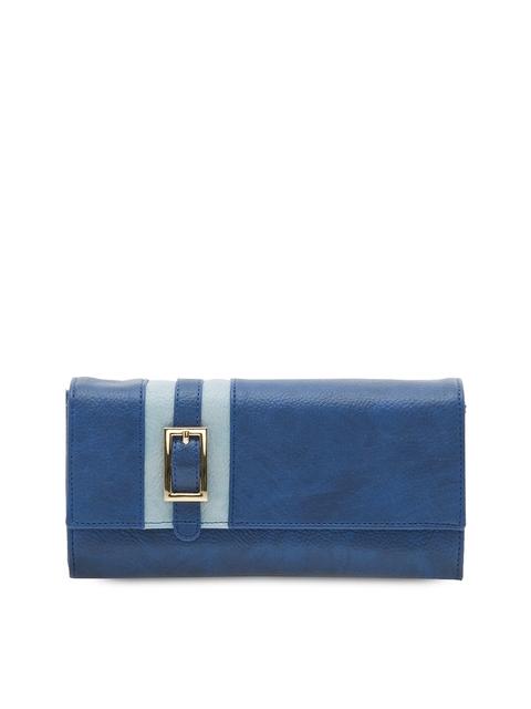 ESBEDA Women Blue Solid Two Fold Wallet
