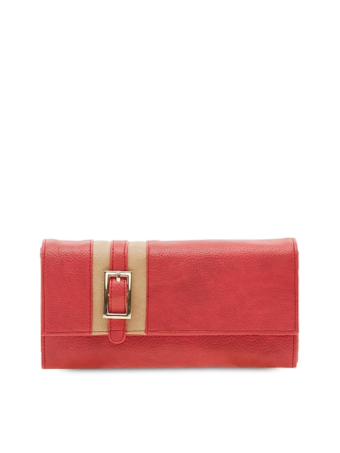 ESBEDA Women Red Solid Two Fold Wallet